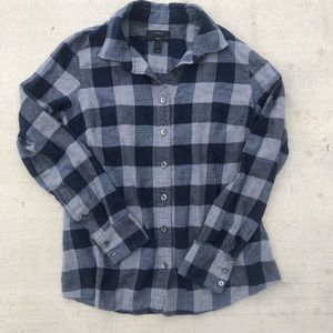 J crew perfect flannel size 2 grey navy